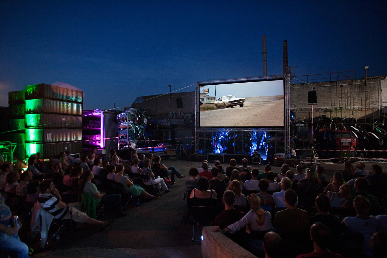 "Screening of ""Vanishing Point"" during Frankfurter Kinowoche 2014; © Michael Graefen"
