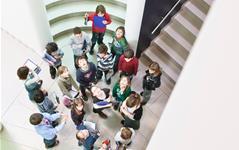 Kinderführung im MUSEUM MMK FÜR MODERNE KUNST, Foto: Axel Schneider