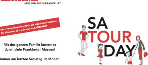 Satourday-Flyer Kulturamt Frankfurt am Main