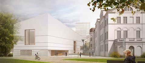 Jüdisches Museum Frankfurt: Visualisierung Außenansicht © Staab Architekten