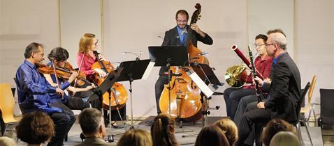 Eröffnung Goethe-Festwoche mit Ensemble Modern im Freien Deutschen Hochstift/Frankfurter Goethe-Museum am 06.09.2018 © Alexander Paul Englert