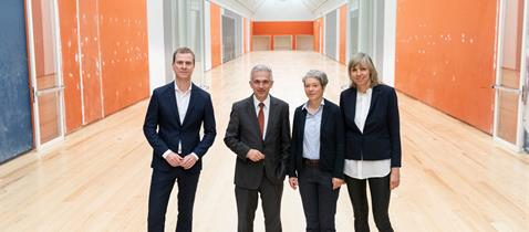 Schirn-Direktor Phlipp Demandt, OB Peter Feldmann, Kulturdezernentin Dr. Ina Hartwig und Inka Drögemüller, Foto: Alex Kraus