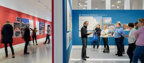 """Deutsches Architekturmuseum """"Große Oper – Viel Theater?"""", Ausstellungsansicht, Foto: Moritz Bernoully"""