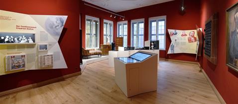 Stoltze-Museum der Frankfurter Sparkasse, Kaminzimmer komplett, Foto: Uwe Dettmar