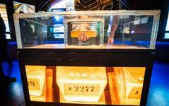 Goldbarrenvitrine, Geldmuseum der Deutschen Bundesbank, Fotograf Frank Rumpenhorst