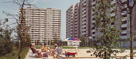 Siedlung Kranichstein Darmstadt, Ernst May, Neue Heimat Südwest © Hamburgisches Architekturarchiv