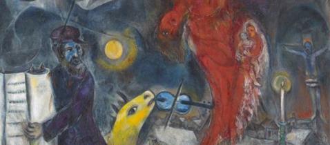 Marc Chagall, Der Engelssturz, 1923-33-47,Kunstmuseum Basel, Depositum aus Privatsammlung, VG Bild-Kunst, Bonn 2019, Foto: Martin P. Bühler